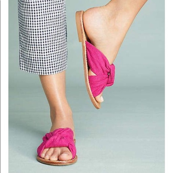 2d45cb99eb1c NEW Soludos Knotted Slide Sandal Shoe Pink Size 8